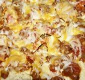 Chili Nachos. Macro of nachos made of chili and tortillas Stock Photo