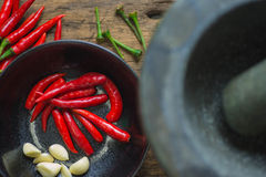 Chili. The National spicy peppers as an ingredient of food Royalty Free Stock Photos