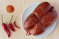 Chili and `nduja royalty free stock image