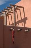 chili obwieszenia pieprzu czerwień Obraz Stock