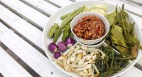 Chili och nya grönsaker, sund meny Fotografering för Bildbyråer