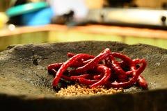Chili och peppar Royaltyfri Bild