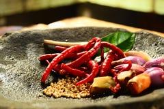 Chili och peppar Royaltyfria Foton