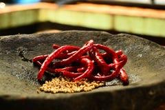 Chili och peppar Arkivbilder