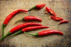 Chili och skivor Arkivfoton