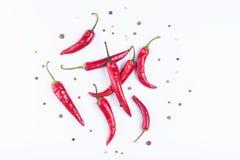 chili odizolowywający pieprz Obrazy Royalty Free