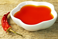 Chili oil Royalty Free Stock Images