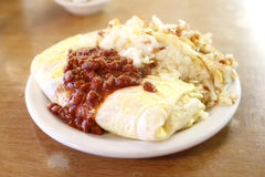 Chili omelet Royalty Free Stock Images