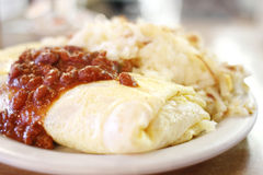 Chili omelet Royalty Free Stock Photography