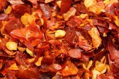 chili płatka czerwień Fotografia Royalty Free
