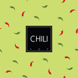 Chili package design element. Seamless pattern - swatch included.  Stock Photo