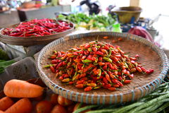 Chili padi. On sale in a market Stock Photos