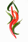 Chili papers of various shapes Royalty Free Stock Image