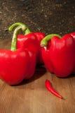 Chili and paprika Stock Photos