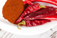 Chili and paprika background. Stock Photography