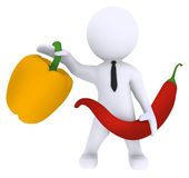 Chili and Paprika. High Class rendered figure for perfect message transportation Royalty Free Stock Photography