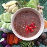 Chili paste nam phik krapi Stock Photo
