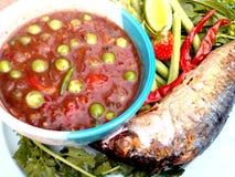Chili paste. Thai healthy food Stock Photo