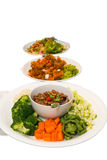 Chili paste and vegetable side dishes Stock Photography
