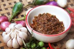 Chili paste with vegetable Stock Photos