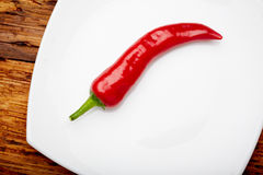 Chili pepper. On a plate Stock Image
