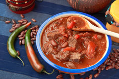 Chili pepper with beef Stock Photo
