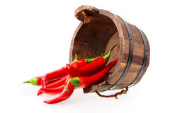 Chili pepper bucket Royalty Free Stock Photography