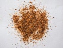 Chili Pepper (Capsicum) powder. Hot Chili Pepper (Capsicum) aka Chilli ground powder stock image