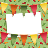 Chili pepper decoration Royalty Free Stock Image