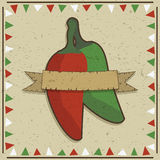Chili pepper decoration Royalty Free Stock Photos