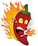 Chili Pepper On Fire vector illustration