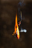 Chili pepper on fire Stock Photo