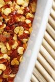 Chili pepper flakes Stock Photo