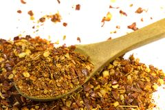Chili pepper flakes Stock Photo