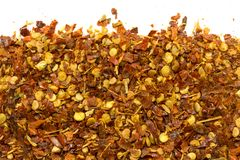 Chili pepper flakes Royalty Free Stock Images