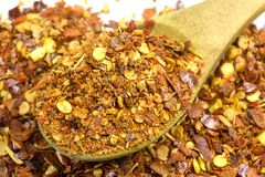 Chili pepper flakes Stock Images