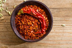 Chili pepper flakes Royalty Free Stock Photography