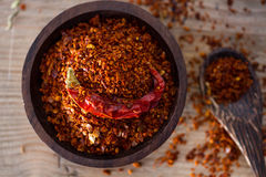 Chili pepper flakes Stock Image