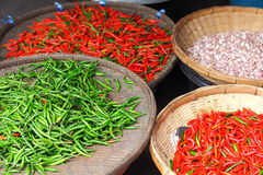 Chili pepper in food market Royalty Free Stock Photography