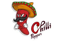 Chili pepper. Hand Drawn Hot Pepper. Lettering of chili pepper. vector illustration