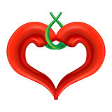 Chili Pepper Heart Royalty Free Stock Images