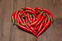 Chili pepper heart Royalty Free Stock Image
