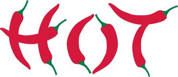 Chili pepper - hot. Vector icon Royalty Free Stock Photography