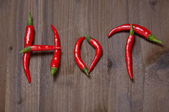 Chili pepper hot Stock Images