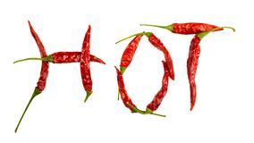 Chili pepper isolated Royalty Free Stock Photography