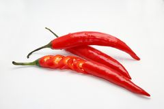 Chili pepper isolated on white background Stock Photos