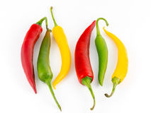 Chili pepper  isolated on white Stock Photography
