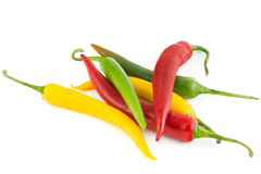 Chili pepper  isolated on white Royalty Free Stock Images