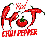 Chili pepper label Stock Image