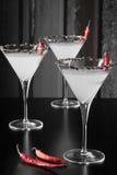 Chili Pepper Martini preto e branco Fotos de Stock